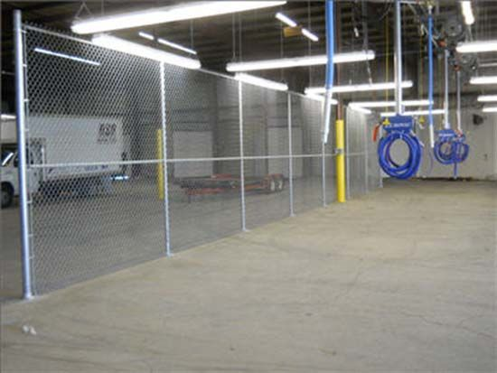 Indoor Fence Loading Area Installation