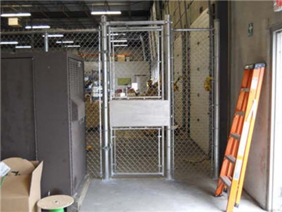 Reverse Side of Indoor Man Gate with Panic Bar & Self Closer